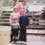 Irene with 4 kids